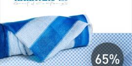Сетка для затенения KARATZIS Бело-голубое 65%